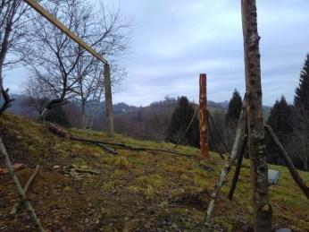 La cabane : ossature