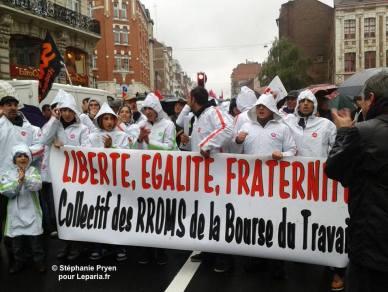 Collectif des Rroms de la bourse du travail - nov.-déc. 2013