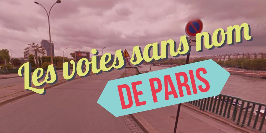 voies sans nom de paris