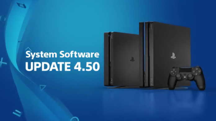 PS4 Pro Update Firmware 4.50