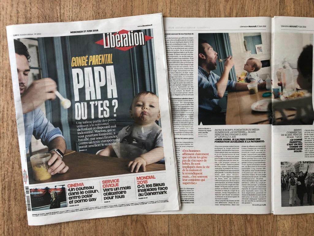 Libération Patrice Bonfy Congé paternité témoignage