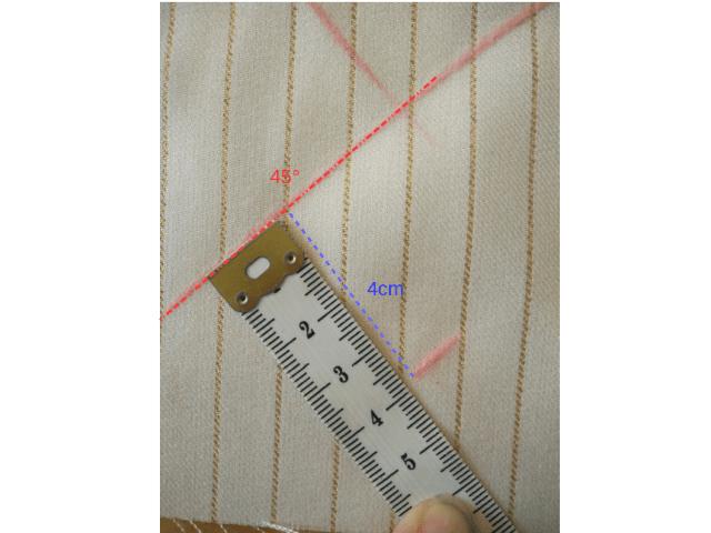 Tracer une ligne parallèle à la première à 4 cm pour créer le biais