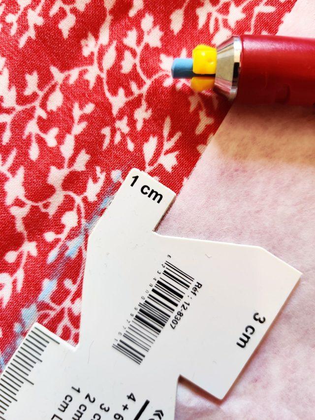 Utilisation du somomètre pour l'ajout des valeurs de couture
