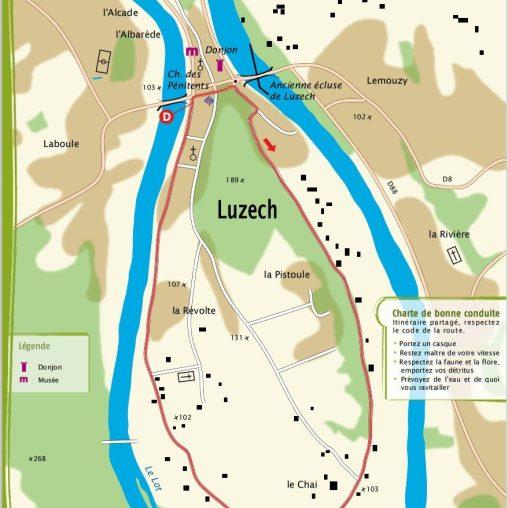 Luzech 4.2 km 25 minutes. Very easy