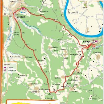 Bélaye 11 Km 1.20 heures Facile