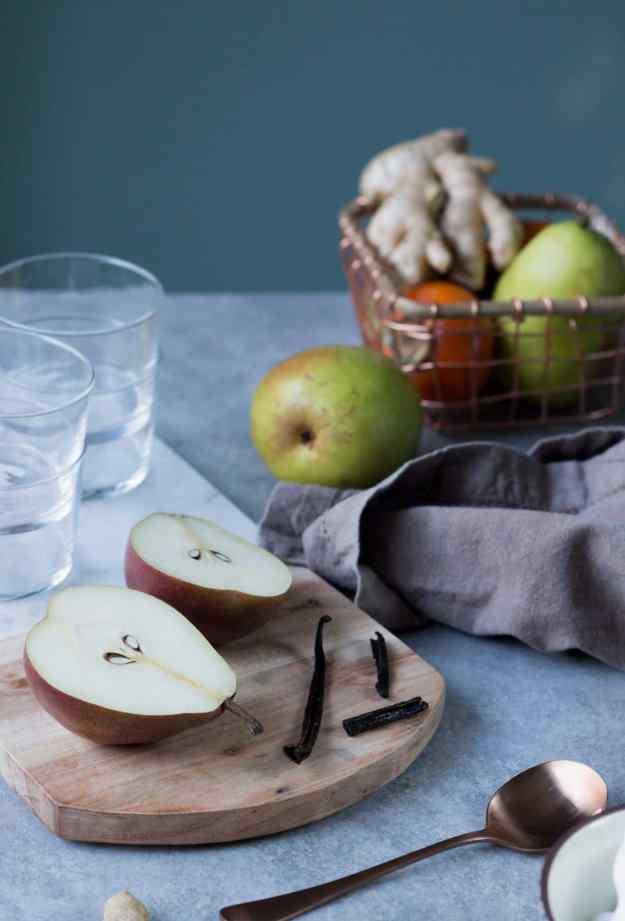 poached pear parfaits