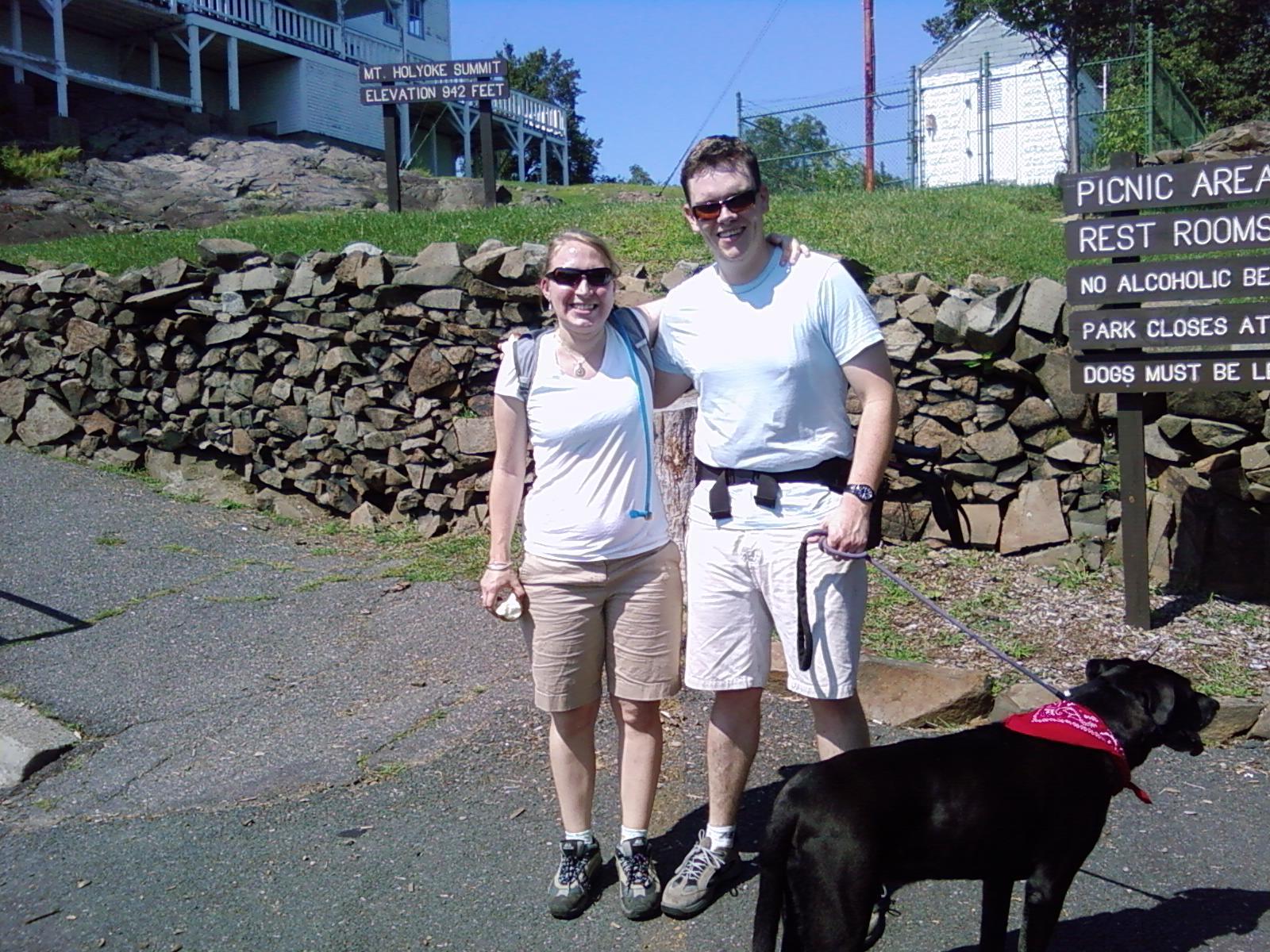 Anna, Mark & Gordon on the Summit of Mount Holyoke