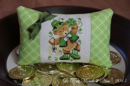 coussinet St Patrick's Teddy
