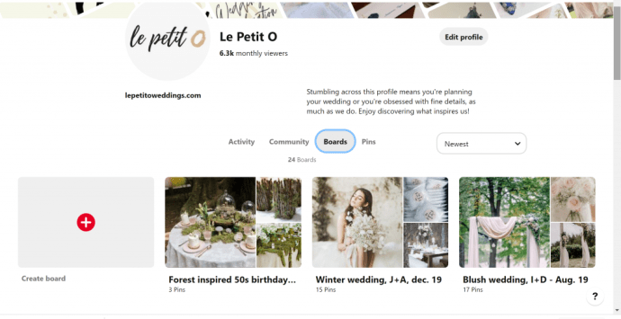 Le Petit O weddings on Pinterest