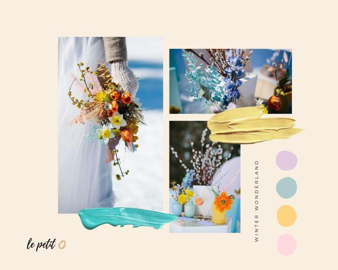 micro-wedding mood board fiori