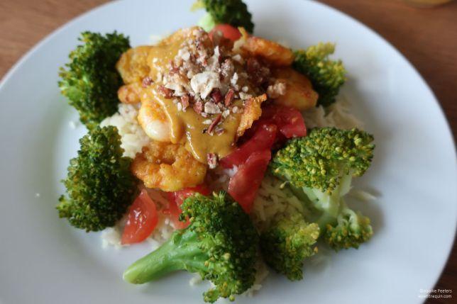 Scampi's met rijst en broccoli (Le petit requin)
