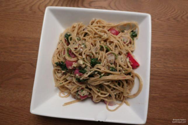 Spaghetti met radijzen (Le petit requin)