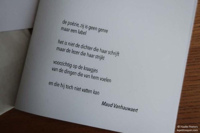 Gedicht Maud Vanhauwaert (Le petit requin)