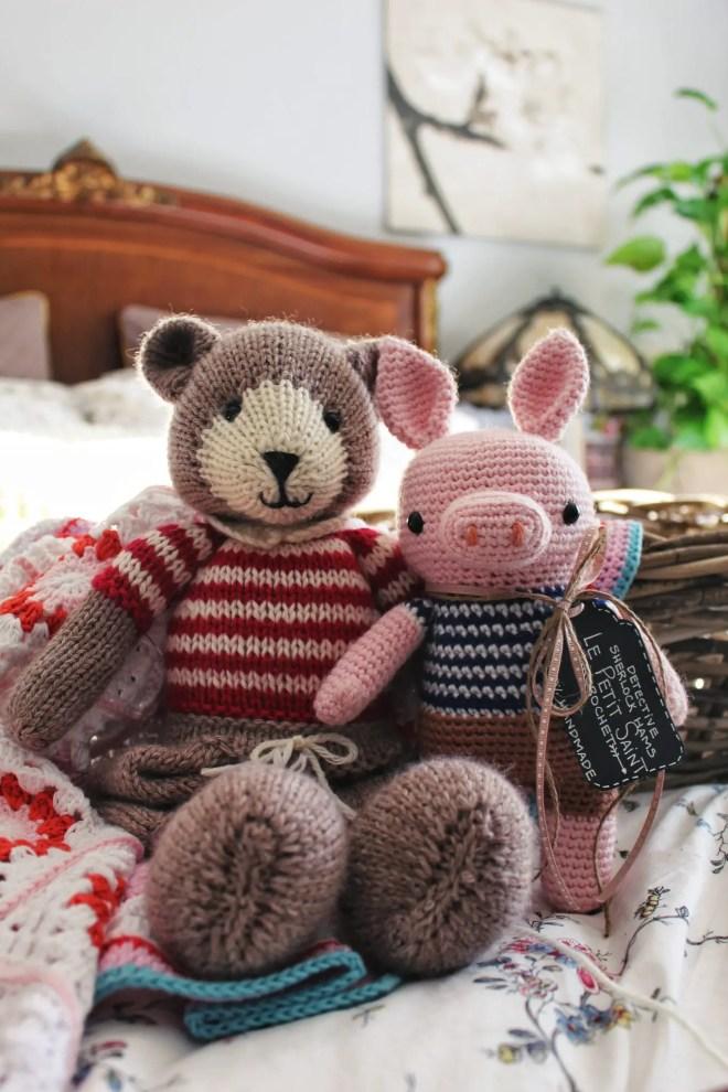 Knitting vs crocheting amigurumi