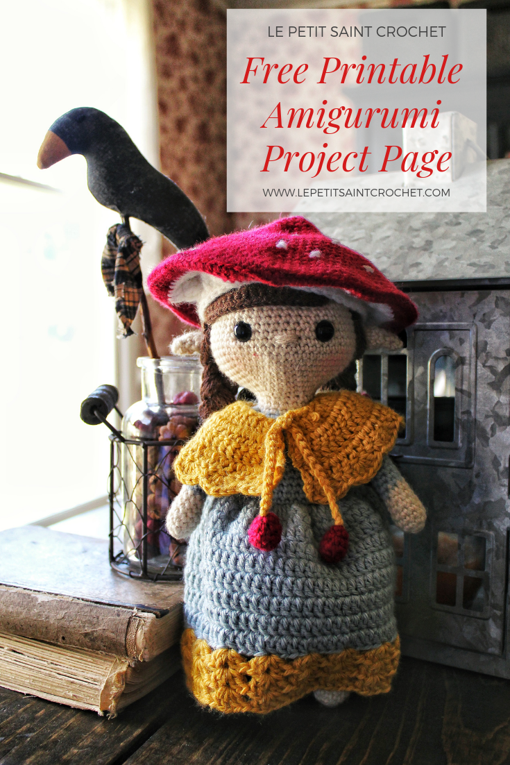 Free Printable Amigurumi, Crochet, and Knit Project Pages
