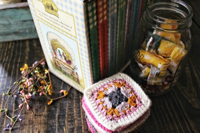 Granny squares and Little House on the Prairie books.