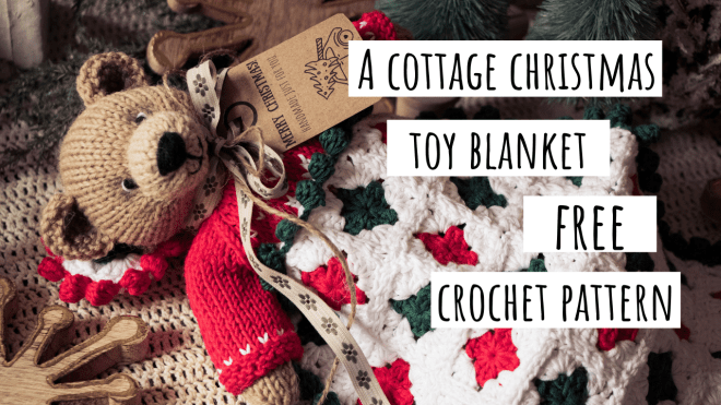 Cottage Christmas Toy Blanket Crochet Pattern