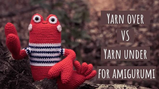 Yarn over vs yarn under