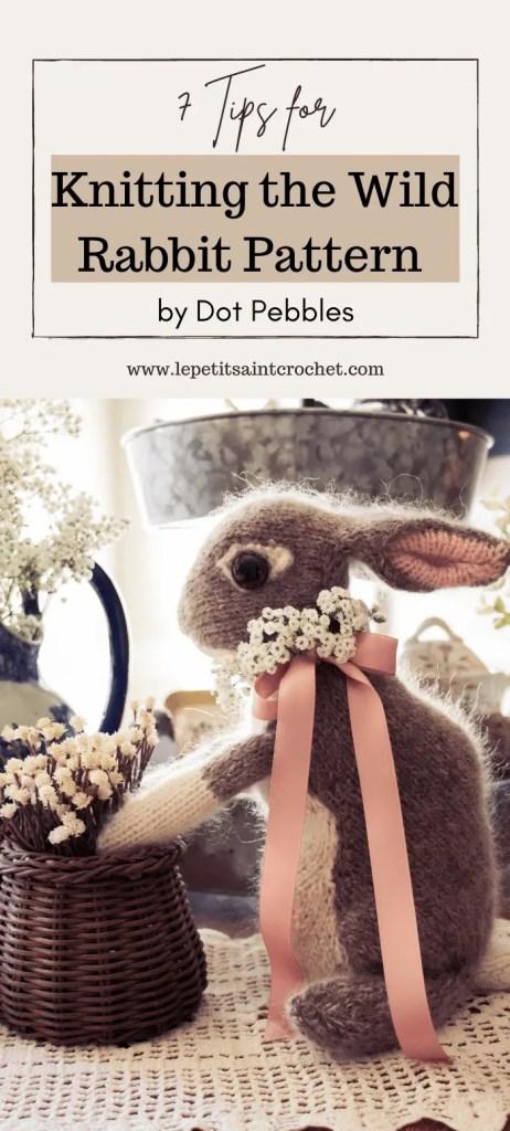 Knitting the Wild Rabbit Pattern Pinterest Pin