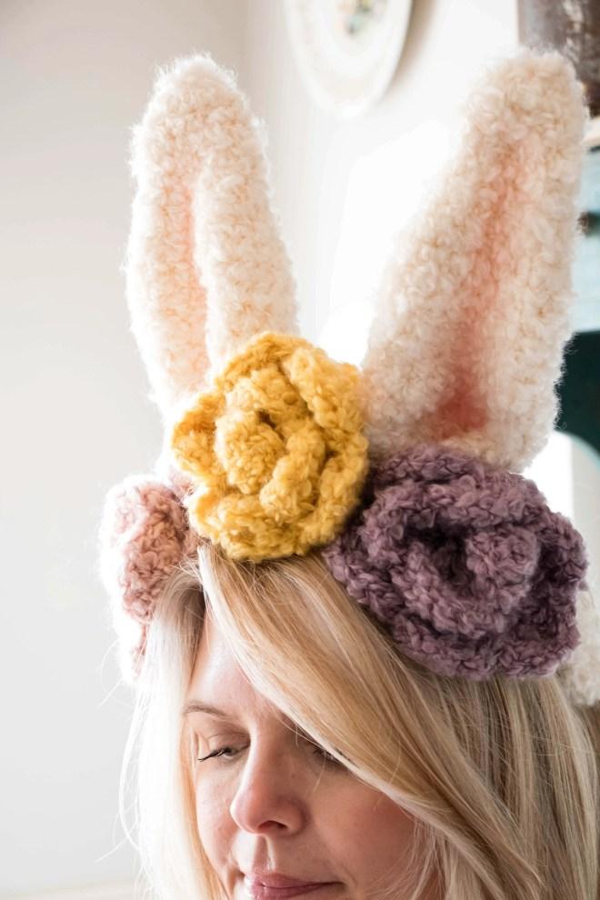 Crochet Easter bunny headband
