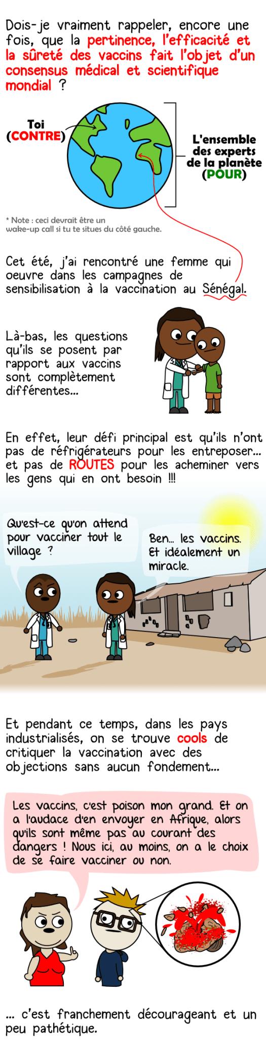 La vaccination au Sénégal et en Afrique