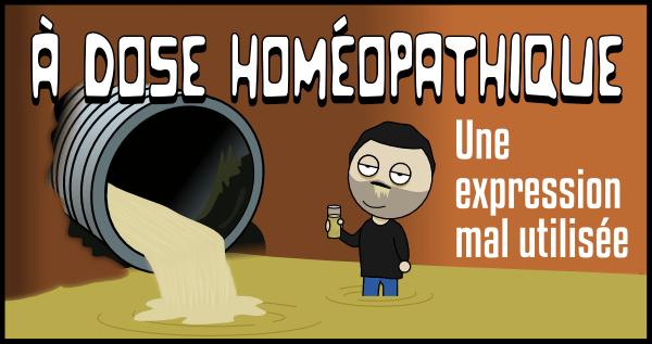 À dose homéopathique une expression mal utilisée (titre)