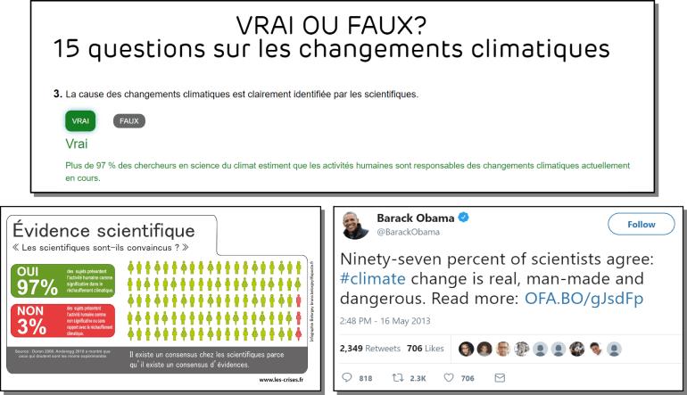 97% scientifiques changements climatiques