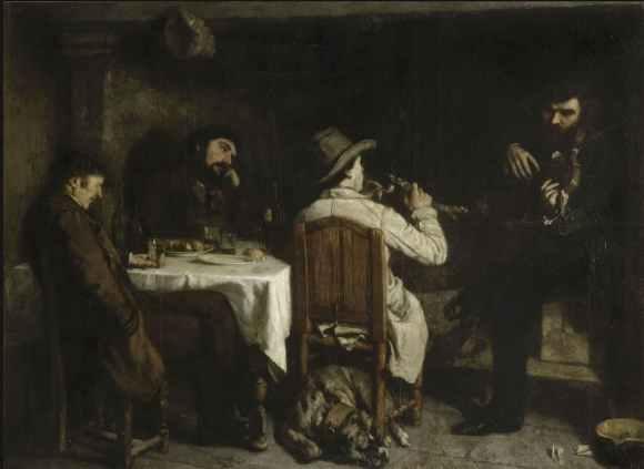 Gustave Courbet - L'après-dînée à Ornans - 1849