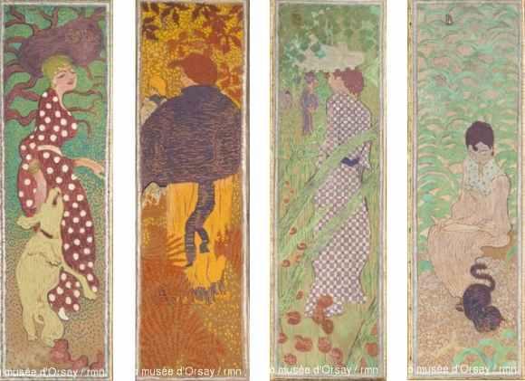 Pierre Bonnard - Femmes au jardin - 1891