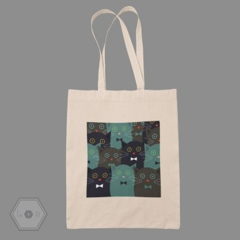 Tote bag chat yeux rond