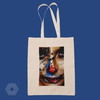 Tote bag face painting art