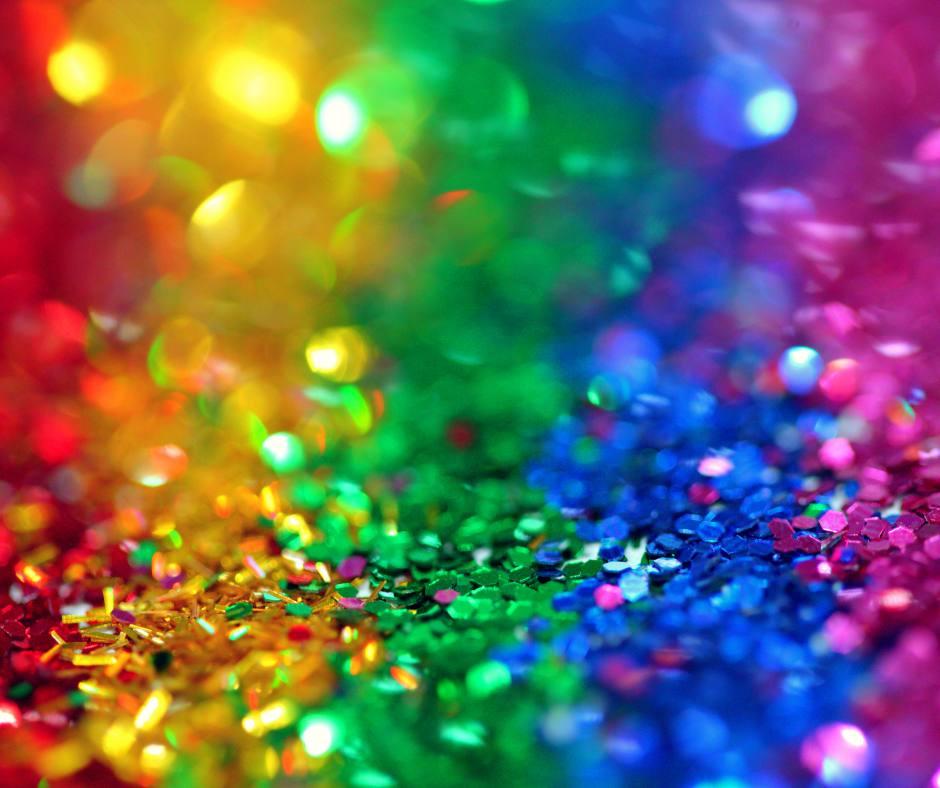 paillettes multicolores