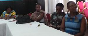 Une vue de quelques femmes journalistes présentes à la formation.Ph.lepointsur.com