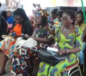 Quelques femmes journalistes à l'ouverture de l'atelier.Ph.lepointsur.com