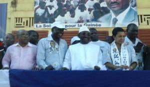 Une vue de la délégation officielle de M.Sidya Touré.Ph.Dr