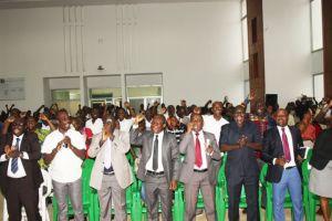 Une vue de la jeunesse conduite par le ministre Sidi Touré.Ph.Dr