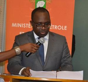 Le Directeur Général de l'Anaré (Autorité Nationale de Régulation du secteur de l'Electricité), Hippolyte Ebagnitchié s'exprimant au nom de la grande famille du pétrole et de l'énergie