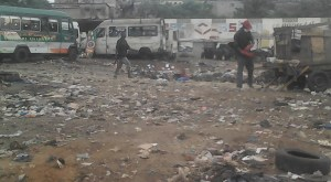 Plusieurs étables et garages n'ont pas échappé à l'opération de démolition ph. EKB