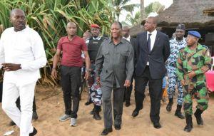 Aussitôt, le président ivoirien, M. Alassane Ouattara s'est rendu sur les lieux.Ph. Archives