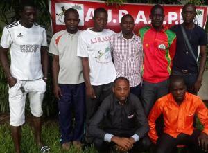 La photo de quelques membres de l'Ajbasp. Ph.Dr