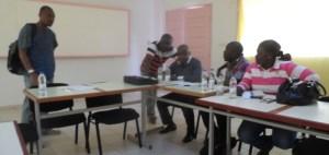 Une vue de quelques journalistes ayant pris part à la formation