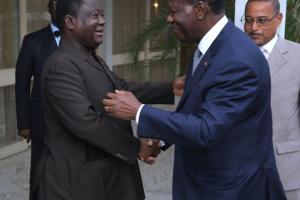 Pour accélérer les choses, ADO a décidé de rencontrer son allié et ainé Henri Konan Bédié. Ph. Dr