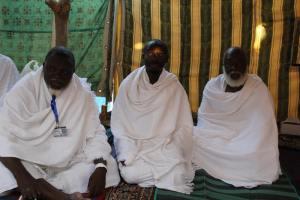 Une forte délégation de responsables de la communauté religieuse muslmane ivoirienne.Ph.Dr