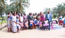 En visite au village SOS d'Aboisso : les femmes du Cesec font d'importants dons