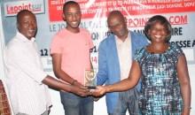 Après son sacre : Sériba Koné présente officiellement son trophée à la rédaction de lepointsur.com #Ebony