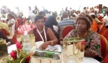 8es Jeux de la Francophonie : le ministre ivoirien Beugré Mambé félicite les journalistes nationaux et internationaux au cours d'un déjeuner de presse # JeuxAbidjan2017