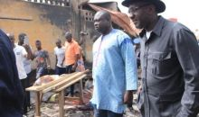 Après l'incendie du marché central d'Abengourou : le Ministre du Commerce constate l'ampleur des dégâts et apporte le soutien du gouvernement #SouleymaneDiarrassouba