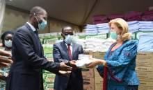 [Côte d'Ivoire/Lutte contre le Coronavirus] Dominique Ouattara fait un don d'une valeur de230 millions Fcfaaux populations et agents de Santé