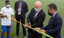 [FIFA] Le président Gianni Infantino  entame sa tournée africaine par l'inauguration du nouveau Stade Municipal de Nouadhibou en République Islamique de Mauritanie