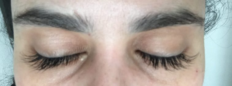 After fake lashes